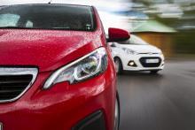 När det handlar om cityköregenskaper hänger Peugeot med. Sedan kör Hyundai och Seat förbi.