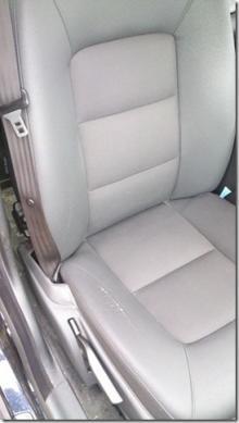 Spruckna säten i Volvo V70 från 2008.