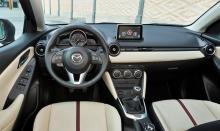 Interiören på Mazda2 som kommer till Sverige 2015.