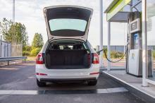 Skoda Octavia G-TEC i kombiutförande har förlorat 130 liter bagageutrymme mot bensin- och dieselmodellerna.