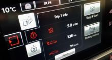 Under medvindsresan till Stockholm slutade snittförbrukningen enligt färddatorn på 5,0 l/100 km.
