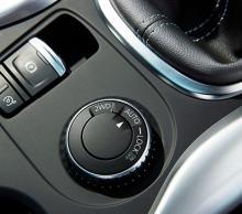 Vredet som avgör om bilen ska driva på framhjulen eller på alla fyra.