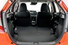 För att vara en småbil är bagageutrymmet skapliga 354 liter. Om man fäller baksätet ökar lastkapaciteten till 1314 liter.