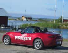 Mazda MX-5, uppmärksammad långtestbil på öarna i Kvarken.