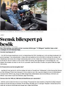 Arikeln om Boo i Vasabladet.