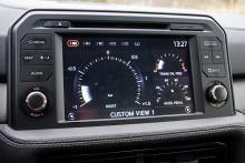 Den nya åttatumsskärmen har mängder av visningsalternativ, särskilt för den som kör på bana.
