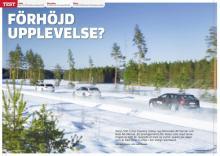 Terrängbilsbatalj mellan Volvo V90 Cross Country, Audi A6 Allroad och Mercedes E-klass All-Terrain.