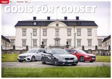 Test av kombibilar: BMW 5-serie möter Volvo V90 och Mercedes E-klass.