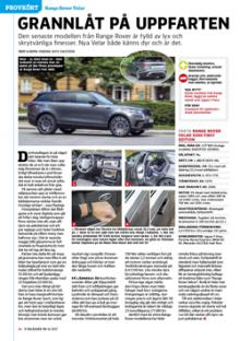 Provkörd: Range Rover Velar.