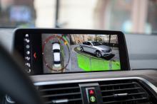 Avancerade kameror ger tydlig vy av omgivningen men bilen som avbildas är inte en X3.