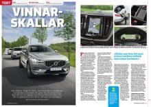 Tre av de 56 testade modellerna: Volvo XC60, Audi Q5 och Mercedes GLC.