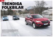 Test av Nissan Qashqai, Opel Grandland X och Skoda Karoq.