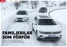 Sjusitsarnas kamp mellan VW Tiguan Allspace, Ford S-Max och Renault Espace.