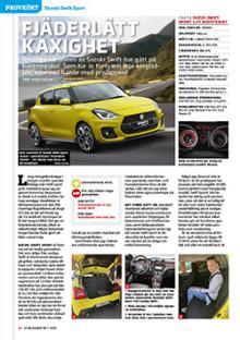 Provkörd: Suzuki Swift Sport.