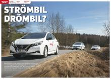 Elbilarna Nissan Leaf, Hyundai Ioniq och Volkswagen e-Golf gör upp.