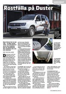 Konsument: Rostfälla på Dacia Duster.