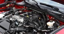 Tvålitersmotorn med ursprung i Mazda 6 är 24 hästkrafter starkare.
