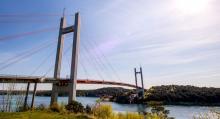 Nya Tjörnbron erbjuder fenomenal utsikt.