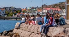 Stora delar av Lysekils hamn är byggd av granitblock från de närbelägna stenbrotten.