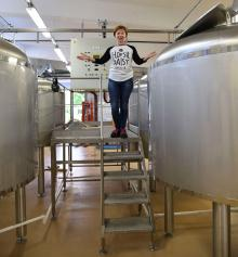 Erika Parneborgs dröm om ett eget bryggeri har gått i uppfyllelse genom Hopsie Daisy Brewing Company.