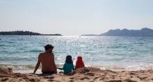 Stranden i Puerto Pollença är barnvänlig och betydligt lugnare än den populära stranden i Alcúdia en bukt söderut.