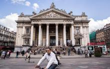 Bryssel har magnifik arkitektur, som här börshuset vid Place de la Bourse.