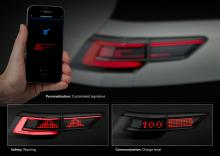 Matrix-LED på bakljus kan förmedla mer information till bilisterna bakom.