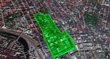 Satsningen på geostaket kommer som en följd av attentatet på Drottninggatan. Området kring gatan i centrala Stockholm kan bli aktuellt för elektronisk fartbegränsning.  (Foto: google maps).