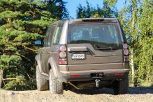 Baksidan med Land Rover Discovery 4 – många maskinskador enligt Länsförsäkringar.