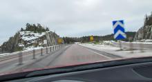 Olyckorna har avlöst varandra vid påfarten från riksväg 55 till E20 österut, utanför Strängnäs.