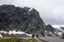 På vägen stötte vi på gott om motorcyklister som uppskattade Norges turistvägar.