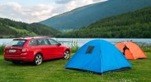 Motsvarande allemansrätten finns i Norge, tillika gott om campingplatser.