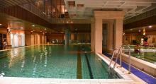 I stadsdelen Óbuda hittar vi ett hotell med eget termalbad.