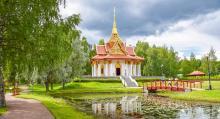 Ett exotiskt utflyktsmål i Ragunda kommun och den jämtländska naturen, är den Thailändska Paviljongen.