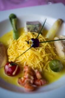 Finmiddagen är serverad på restaurang La Clare Fontane.