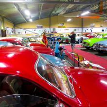 I Nystad fanns Saabs bilfabrik och är nu självklart ett museum, till Anders Sjöbergs förtjusning.