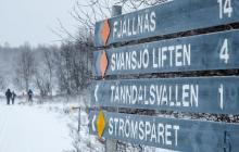 Längdspåren går kors och tvärs i Funäsdalsfjällen, skyltningen ger värdefull information.