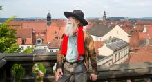 En välkänd figur i Bamberg är Erik som dessutom kan det mesta om staden.