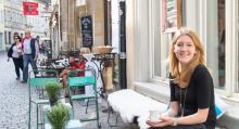 I Bambergs mysiga gränder finns butiker och kaféer.
