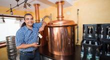 Kanske det minsta micro-bryggeri vi sett, i Coburg.