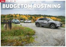 Volvo XC40 med trecylindrig motor möter Mitsubishi Eclipse Cross och Volkswagen T-Roc.