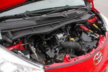 Motorn har kamkedja, som normalt sett inte behöver bytas.