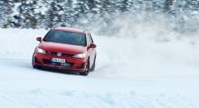 Däcken testas på snö..