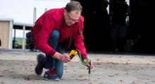 Nästan allt mäts eller bedöms vid däcktester, även asfaltens temperatur.