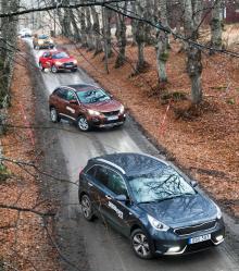 Fyra av de fem testbilarna är helt nya på marknaden medan Opel Mokka X är en ansiktslyftning.