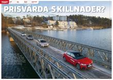 Test av Audi A1 Sportback, Seat Ibiza, Volkswagen Polo och Skoda Fabia.