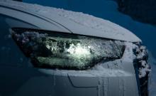 Is på strålkastarna hör till LED-konstruktionens uppenbara avigsidor. Audis ljussken drabbades särskilt hårt, vi fick skrapa flera gånger.