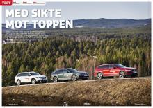 Audi A4 Allroad möter Volvo V60 CC och Skoda Octavia Scout.
