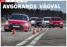 5-kamp mellan Volkswagen Golf, Kia e-Niro, Toyota Corolla, Mazda3 och Subaru Impreza