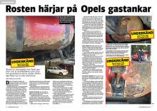 Rostiga tankar på Opels gasbilar.
